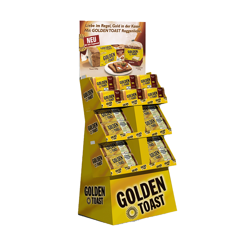 POS-Display (Bodenaufsteller) Golden Toast